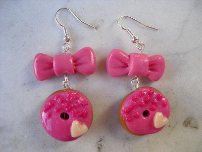 orecchini ciambelline rosa