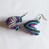 Orecchini multicolor con spirale Cellini alternata