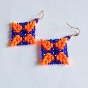 Orecchini Windstar arancioni e blu