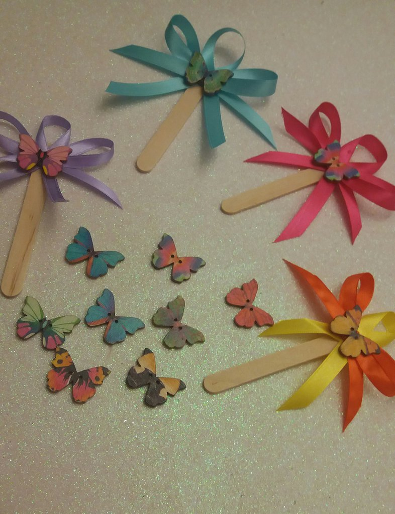 bomboniera segnaposto farfalla multicolor