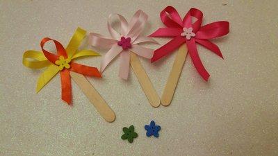 Segnaposto spatola con fiorellini in legno multicolor