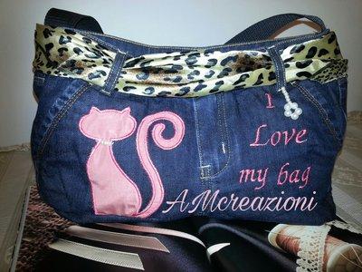 Borsa in jeans-