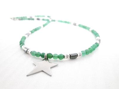Agata verde collana (stella) degli Uomini