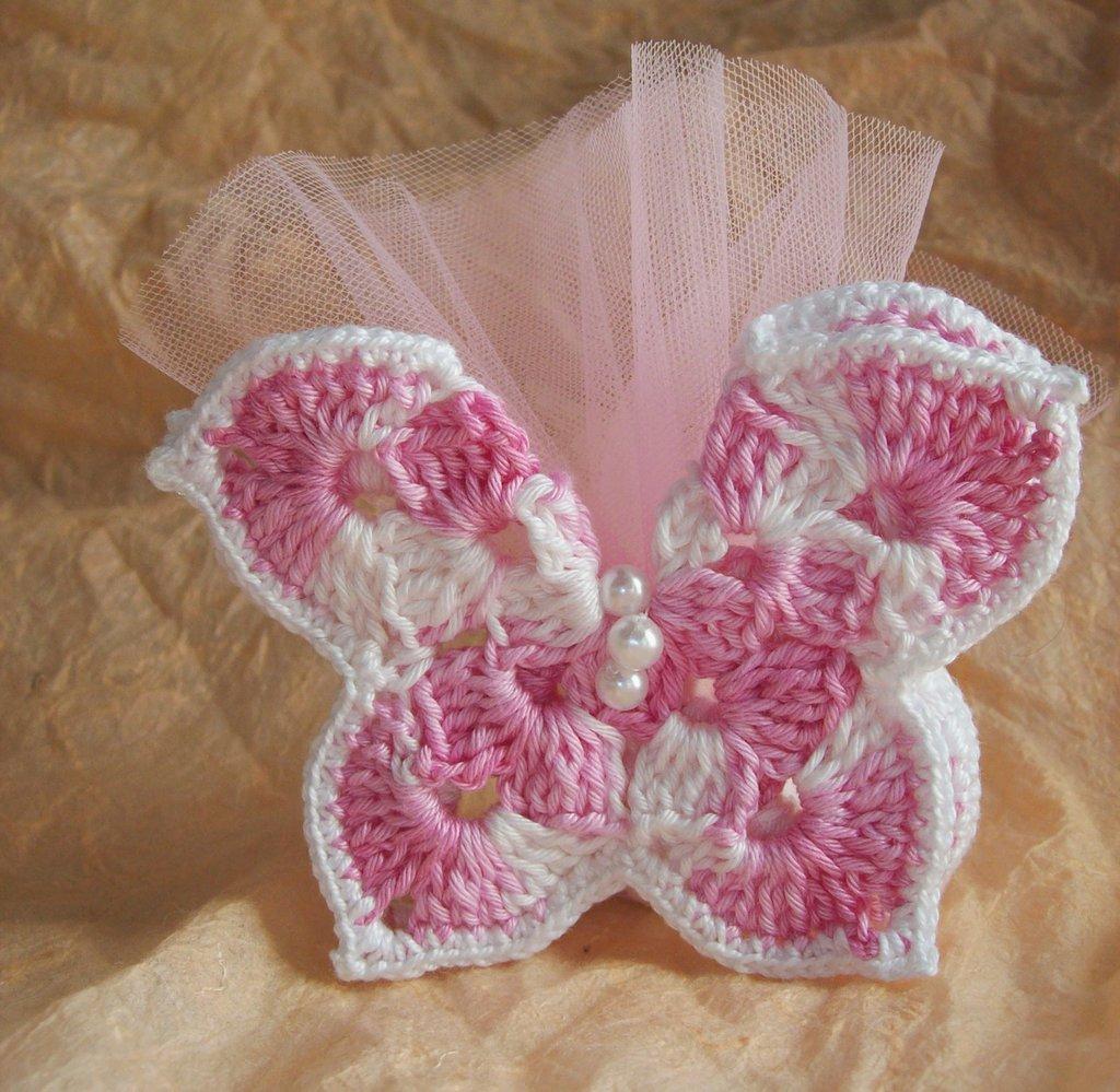 Favoloso Farfalle portaconfetti uncinetto - Feste - Bomboniere - di Uncinet  RM01