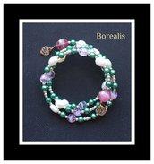 Bracciale Molla Armonica Perle d'Acqua Perle di Boemia