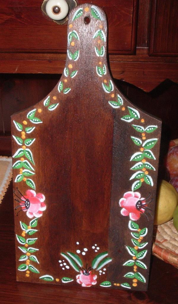 Tagliere decorato