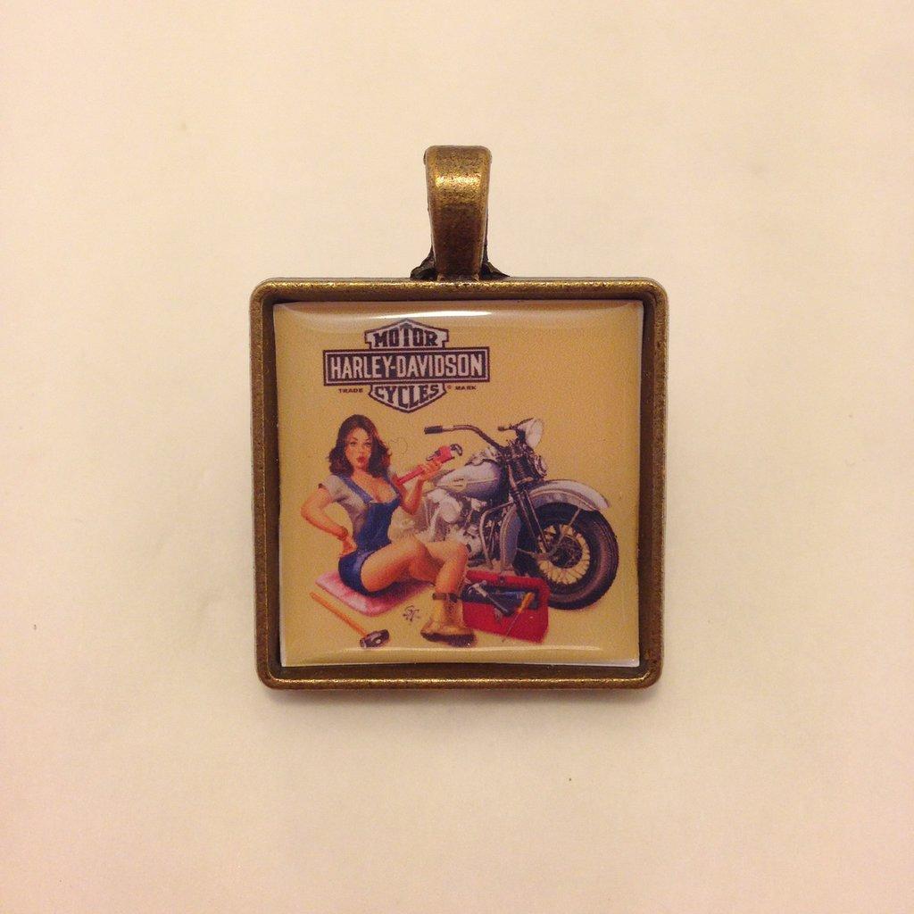 Pin Up Motociclista