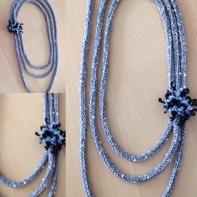 Collana in cordoncino argento