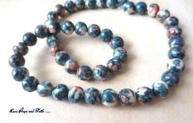 """NOVITA'! LOTTO 45 perle """"Multicolor 1"""" (8 mm) (cod. S5810)"""