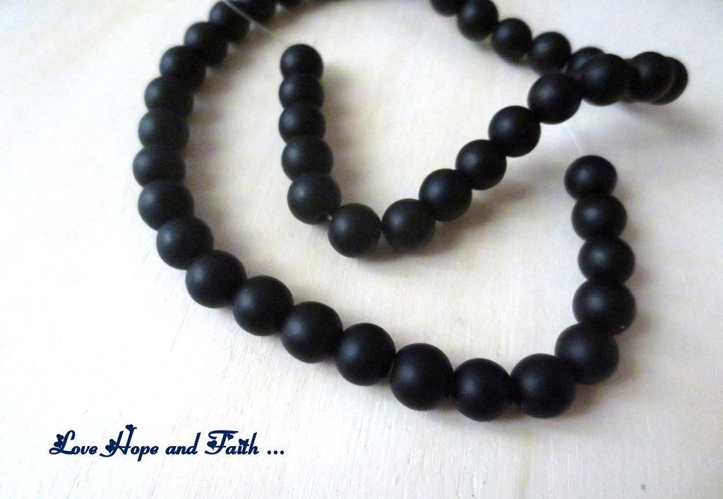 """NOVITA'! LOTTO 45 perle """"Black-Nero"""" (8 mm) (cod. new)"""
