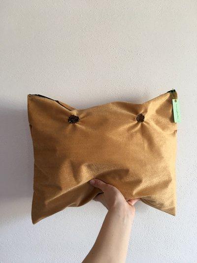 sacca compatibile o bag canvas obag di pelliccia corta beige cavallino