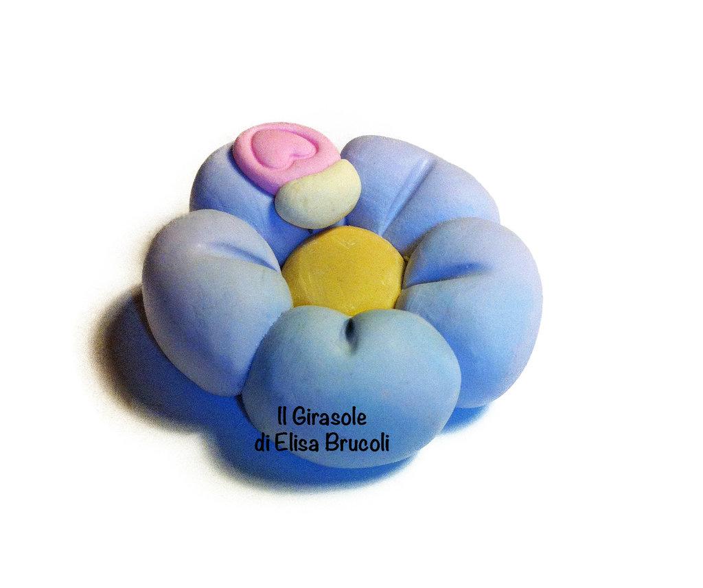 Calamita fiore e coccinella lilla e rosa - idea bomboniera bambina