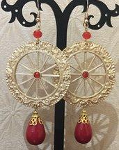 Orecchini da donna pendenti stile Siciliano