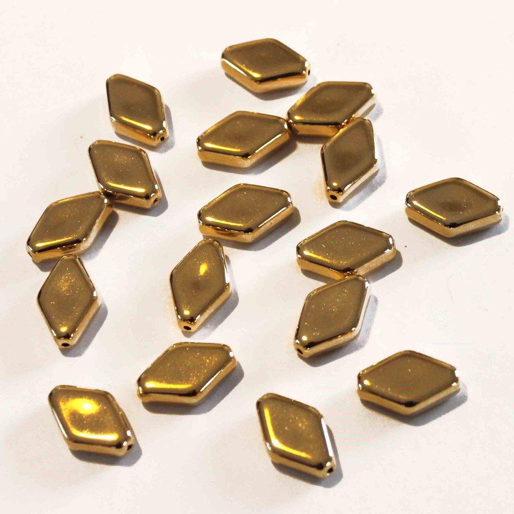 Lotto 2 distanziatore rombo dorato 22x14