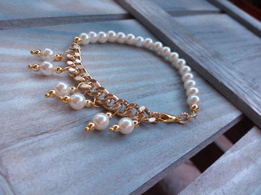 Bracciale perle e oro