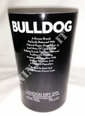 Vaso Gin Bulldog artigianale da arredo bottiglia vuota riciclo riuso