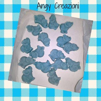 Stock elefantini azzurri