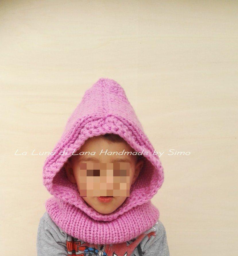 Cappuccio con scaldacollo per bambino o bambina - Bambini - Abbigli ... 0d854b15b62