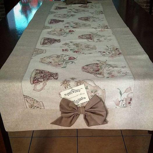 Runner tavolo con fiocchi centrali per la casa e per te - Runner per tavolo ...