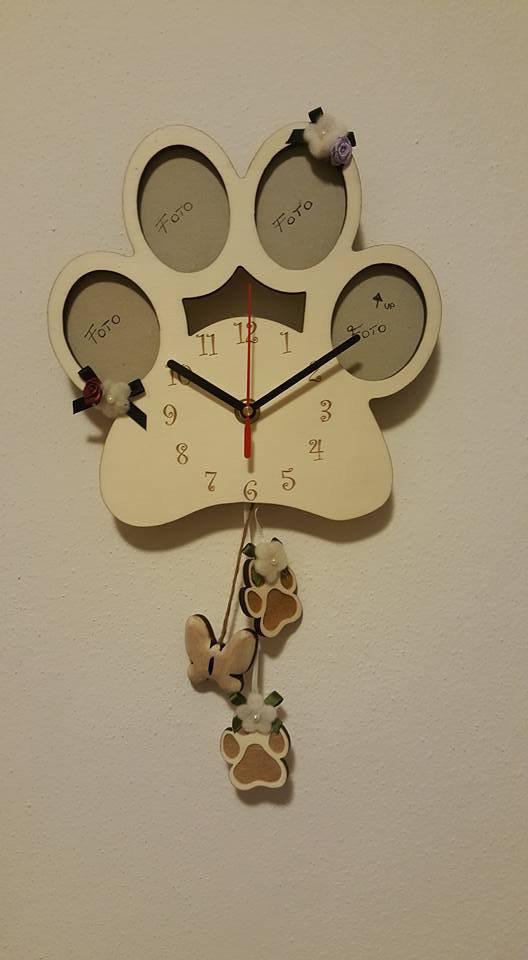 orologio zampa portafoto