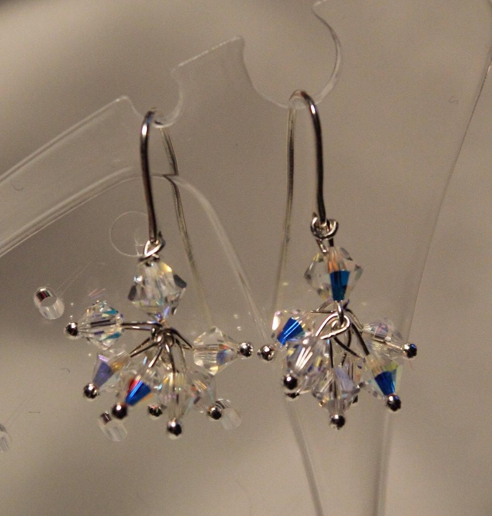 Orecchini in argento 925 handmade con swarovski crystal ab