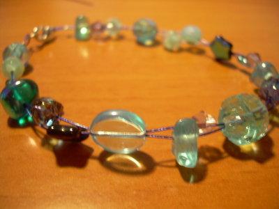 Bracciale perline blu