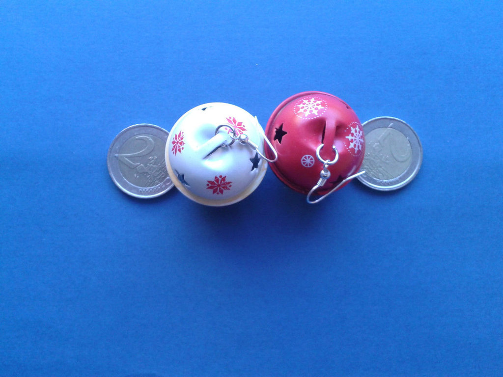 Orecchini campanelle natalizie di metallo Creazione Originale