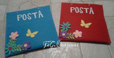 Porta lettere in feltro