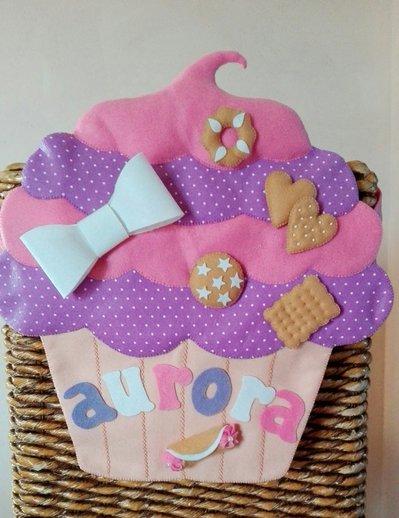Porta pigiama da lettino cupcake