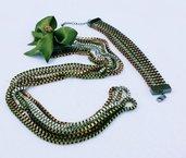 Filicatena con fiocco - parure (collana + bracciale)