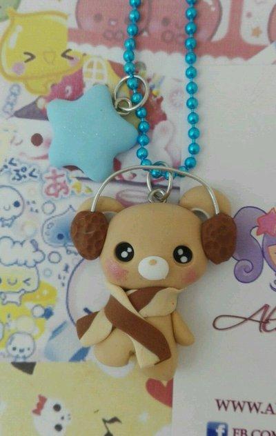 Collana Kawaii FIMO inverno orso orsetto orsacchiotto teddy bear lolita sweet