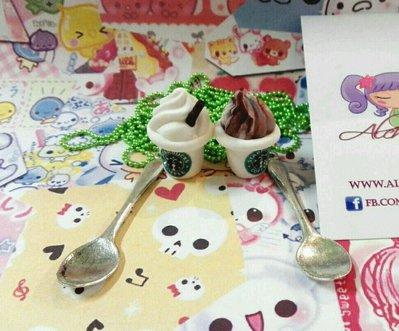 Collana cucchiaio Starbucks coffee caffè addicted panna Fimo kawaii lolita cute