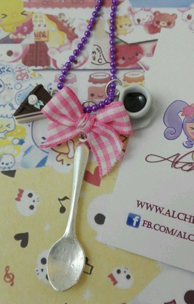Collana italian breakfast kawaii Lolita gnam caffè torta Sweet colazione