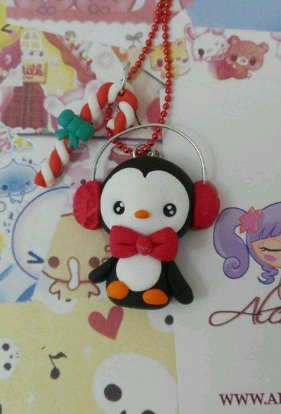 Collana Kawaii FIMO inverno freddo vegan natura pinguino cute alchemian lolita