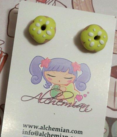 Orecchini Kawaii FIMO Alchemian ciambelle donuts lolita natale Sweet dolcetti
