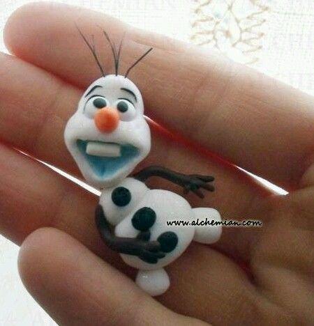 Collana Kawaii FIMO Olaf Frozen regno di ghiaccio Alchemian handmade kawaii