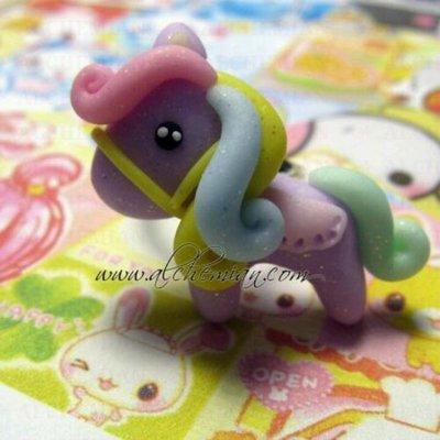 Collana Kawaii FIMO pony cavallino Alchemian fatta a mano lolita gothic pastel