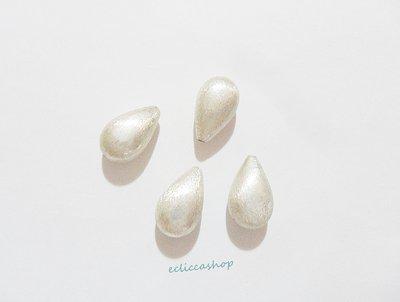 Perlina Distanziatore a goccia bombata satinata in argento indiano 18 x 10 mm 1 Pz