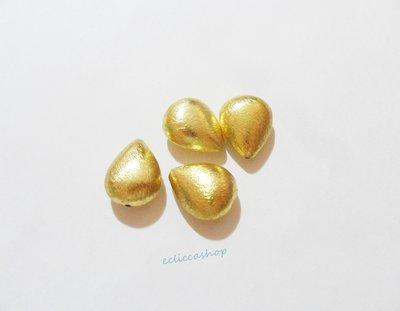 Perlina Distanziatore a goccia bombata satinata in argento indiano 19 x 15 mm 1 Pz