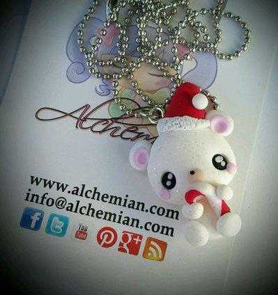Collana con orsetto polare natale Ahemian Lolita kawaii cute gnam orso caramella
