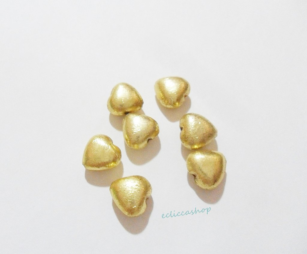 Perlina Distanziatore a cuore bombata satinata in argento indiano 12 x 12 mm 1 Pz
