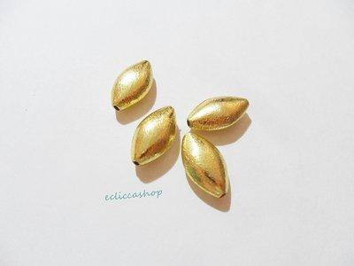Perlina Distanziatore a rombo bombata satinata in argento indiano 20 x 12 mm 1 Pz
