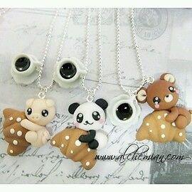 1 Collana Alchemian porcellino, maialino ,panda o orsetto kawaii cute Sweet loli