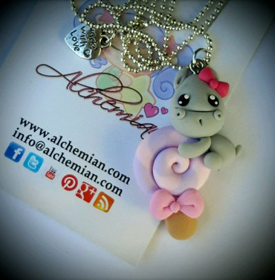 Collana ippopotamo lecca lecca Alchemian Lolita kawaii cute Sweet lolita