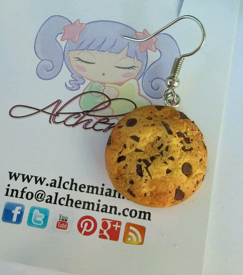 1 orecchino Kawaii FIMO Alchemian fetta biscotto lolita cookie sweet colazione