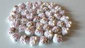 confetti decorati - bomboniere fai da te - segnaposto personalizzati - confetti - confetti a cuore - confetti grandi -