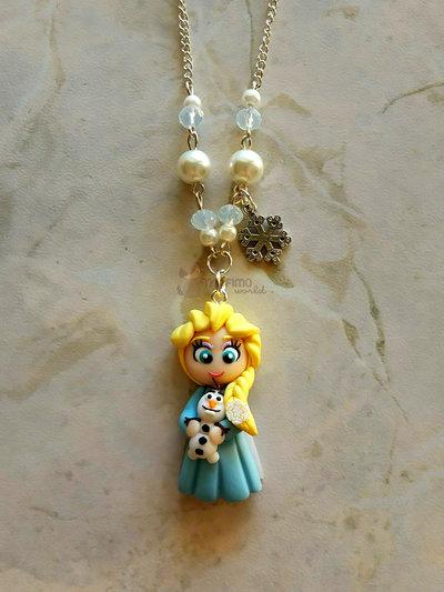 collana con Elsa fimo