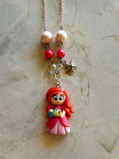 collana con Ariel fimo