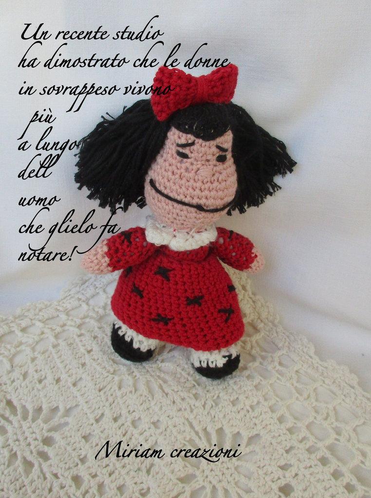 Mafalda, la bimba dei fumetti di Quino ( Amigurumi)