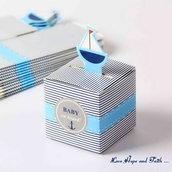 "LOTTO 12 Scatoline in cartoncino ""Baby on Board"" (cod. new)"